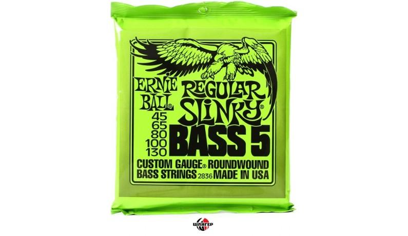 ERNIE BALL P02836 Regular Slinky Струни для бас-гітари 5 струн .045-.130