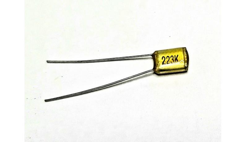 DIMARZIO 022CAPV Конденсатор для гітарної електроніки 0,22мкФ