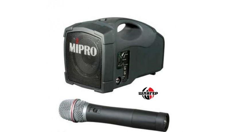 MIPRO MA101V/MH203a Акустична система мобільна автономна 30Вт, VHF радіосистема 208,200 MHz, один ручний мікрофон