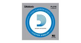 D`ADDARIO PL016 Струна для електро або акустичної гітари .016