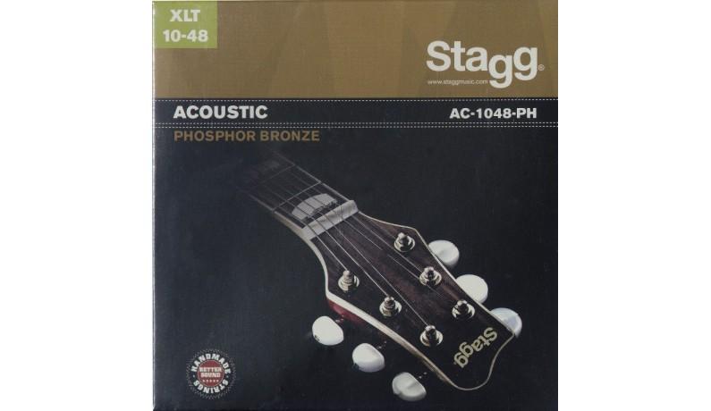 STAGG AC1048PH Струни для акустичної гітари фосфорна бронза, XLT10-48
