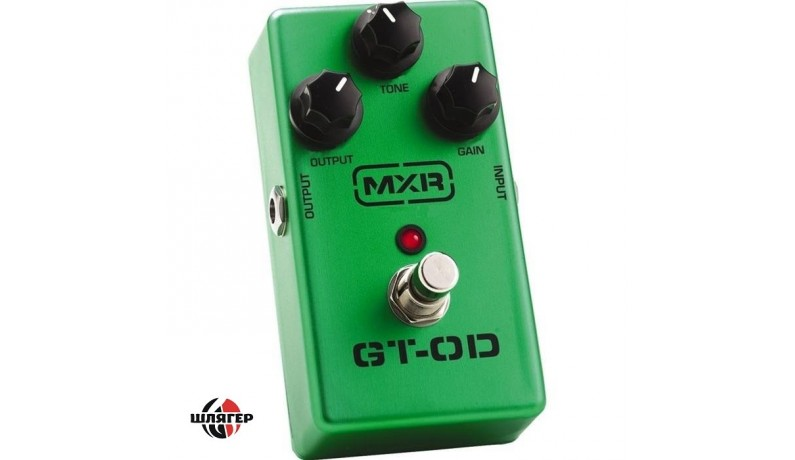 DUNLOP M193 MXR GT-OD Overdrive Педаль для електрогітари овердрайв регулювання чутливості, тону та вихідного рівня сигналу