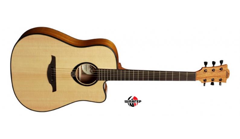 LAG Tramontane T66DC Акустична гітара Dreadnought з вирізом, вехня дека ялина, низ/обечайка черв. дерево, грф черв/індон. палісандр,