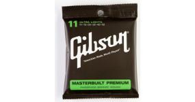 "GIBSON SAG-MB11 Masterbuilt Phos Bronze Acoustic .011-.052 Струни для акустичної гітари ""Masterbuilt"""