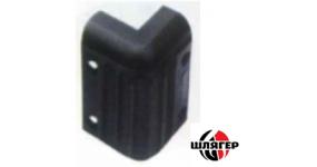 BIG PCF047 Кутник пластмасовий для АС 37х37х55мм, зебра, чорний