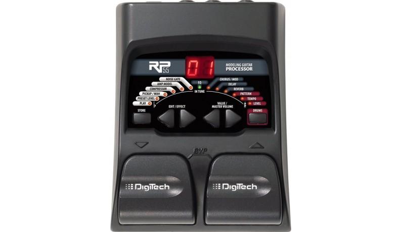 DIGITECH RP55 Процесор для електрогітари 20 ефектів, 8 одночасно, драммашина, 24 АЦП/ЦАП, без Б.Ж.