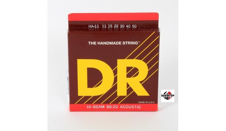 DR HI-BEAM HA11 Bronze 80/20 Струни для акустичної гітари .011-.050