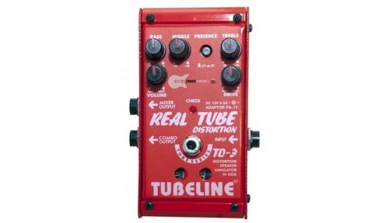 TUBELINE TD3 REAL TUBE DISTORTION TD3 Педаль для електрогітари лампова