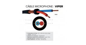 CAE VIPER Кабель мікрофонний 2х0,22 мм., чорний