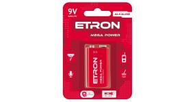 "ETRON 9V C1 Елемент живлення ""Крона""  6LR61/9V"