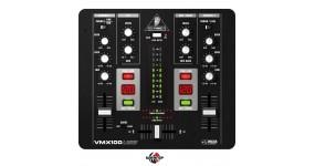 BEHRINGER VMX100USB Мікшерний пульт для DJ, 2-кан. DJ мікшер з лічильником темпу, 2-смуг. EQ, USB-аудіоінтерфейс
