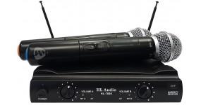 HL AUDIO HL-7020 Радіосистема VHF 178,5-186,5 мГц., два ручних мікрофони