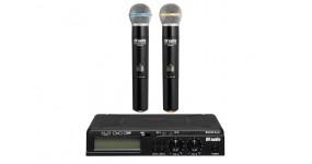 DV AUDIO PGX-24 Dual Радіосистема UHF 625-680MHz, два ручних мікрофони