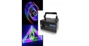 BIG BE3D700RGB Лазер графічний 3D анімація, червоний 200mw + зелений 100mw, +синій 300mw