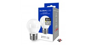 GLOBAL 1-GBL-141 Лампа світлодіодна G45F 5W 3000K 220V E27 AR