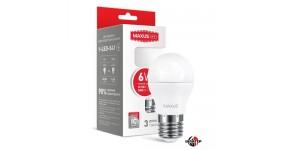 MAXUS 1-LED-541 Лампа світлодіодна G45 6W 3000K 220V E27