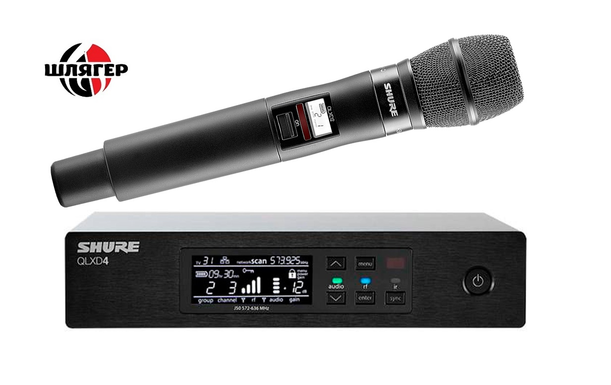 SHURE QLXD24KSM9 Радіосистема цифрова 632-694mHz 28d9f6493ae79